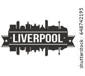 liverpool skyline silhouette... | Shutterstock .eps vector #648742195