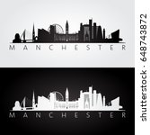 manchester skyline and... | Shutterstock .eps vector #648743872
