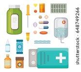 cartoon medicaments. different...   Shutterstock .eps vector #648749266