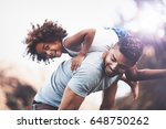 playful child and father having ...   Shutterstock . vector #648750262