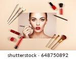 fashion lady accessories... | Shutterstock . vector #648750892