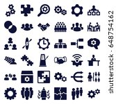 teamwork icons set. set of 36... | Shutterstock .eps vector #648754162