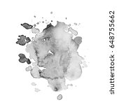 abstract watercolor grayscale... | Shutterstock .eps vector #648755662