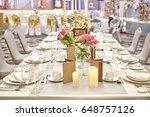 close up on the desk of elegant ... | Shutterstock . vector #648757126