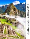 machu picchu  peru   ruins of... | Shutterstock . vector #648760315