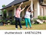 active senior couple exercising ...   Shutterstock . vector #648761296