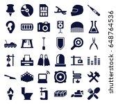 equipment icons set. set of 36... | Shutterstock .eps vector #648764536
