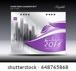 purple cover desk calendar 2018 ...   Shutterstock .eps vector #648765868