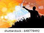 big party. dancing people   Shutterstock .eps vector #648778492