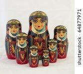 seven elegant russian nesting...   Shutterstock . vector #64877971