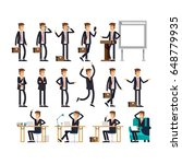 large vector set of businessman ... | Shutterstock .eps vector #648779935