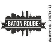 baton rouge skyline silhouette... | Shutterstock .eps vector #648786415