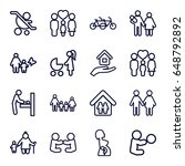 mother icons set. set of 16... | Shutterstock .eps vector #648792892