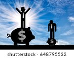 inequality concept. poor and... | Shutterstock . vector #648795532