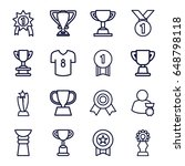 champion icons set. set of 16... | Shutterstock .eps vector #648798118