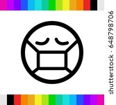 emoticon with medical mask over ...   Shutterstock .eps vector #648798706