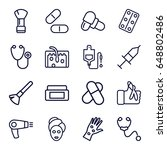 treatment icons set. set of 16...   Shutterstock .eps vector #648802486