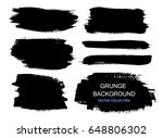large grunge elements set.... | Shutterstock .eps vector #648806302