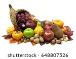 Cornucopia Fall Harvest Isolated