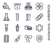pharmacy icons set. set of 16...   Shutterstock .eps vector #648808426