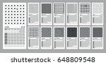 creative calendar 2018 with... | Shutterstock .eps vector #648809548