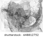 grayscale triangular background ... | Shutterstock .eps vector #648812752