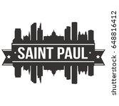saint paul skyline silhouette... | Shutterstock .eps vector #648816412