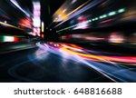 abstract city lights | Shutterstock . vector #648816688