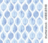 seamless blue and white vintage ... | Shutterstock .eps vector #648818548