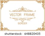 gold photo frame with corner... | Shutterstock .eps vector #648820435