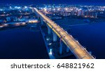 night city from a height. the... | Shutterstock . vector #648821962