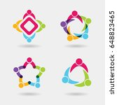 vector social logo icons of... | Shutterstock .eps vector #648823465