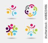 vector community logo icons of... | Shutterstock .eps vector #648823486
