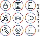 inside icons set. set of 9... | Shutterstock .eps vector #648824602