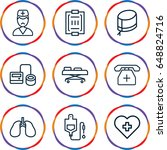 healthcare icons set. set of 9...   Shutterstock .eps vector #648824716