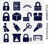 closed icons set. set of 16...   Shutterstock .eps vector #648824722