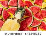 summer concept. conceptual.... | Shutterstock . vector #648845152
