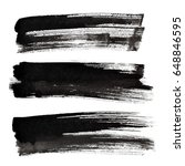 set of black ink brush strokes... | Shutterstock . vector #648846595