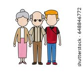 lovely grandparents with young... | Shutterstock .eps vector #648846772