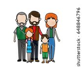 family parents with childrens.... | Shutterstock .eps vector #648846796