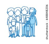 cute family people together... | Shutterstock .eps vector #648848206