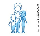family parent with childrens... | Shutterstock .eps vector #648848422