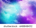 space of night sky with cloud... | Shutterstock . vector #648848452