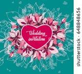 wedding invitation | Shutterstock .eps vector #648848656