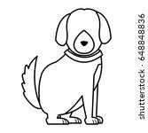 cartoon dog animal pet family... | Shutterstock .eps vector #648848836