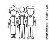 family parent and grandparents... | Shutterstock .eps vector #648849136