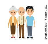 family parent and grandparents... | Shutterstock .eps vector #648850162