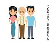 family people mother and father ... | Shutterstock .eps vector #648850978