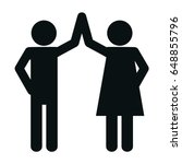 pictogram couple icon | Shutterstock .eps vector #648855796