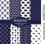 set of marine and nautical... | Shutterstock .eps vector #648857662